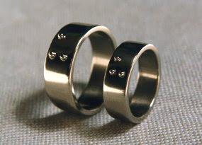 'US' Braille rings. 2003