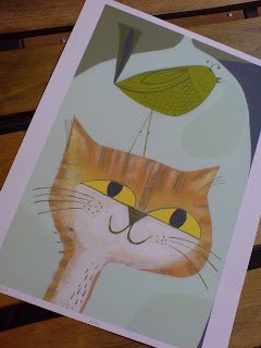 Matte Stephens: cat bird print
