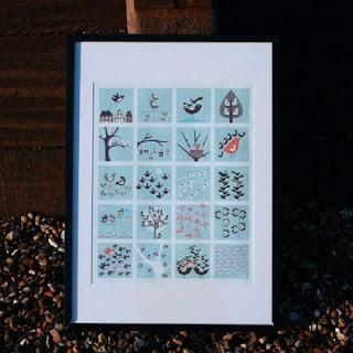 isak: 1-20 bird counting poster