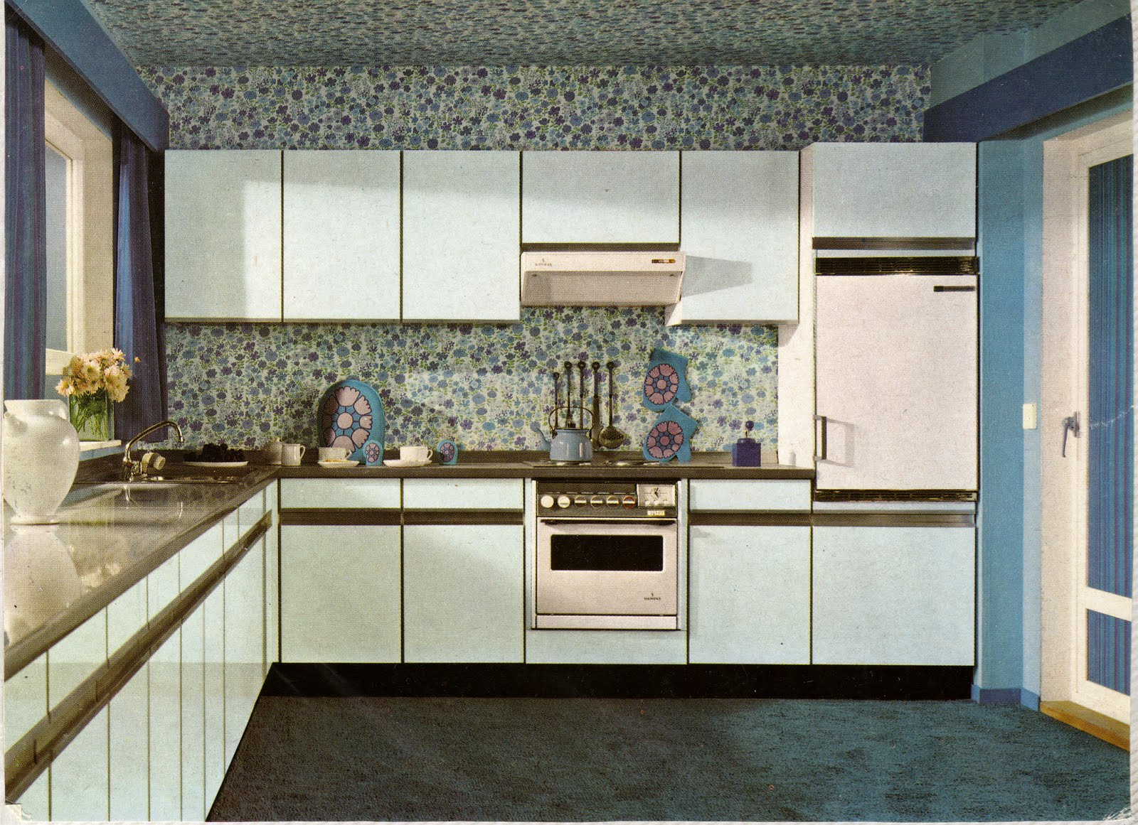 Coordinated Kitchen and Bath - 1970\'s - Vancouver Kitchen and ...