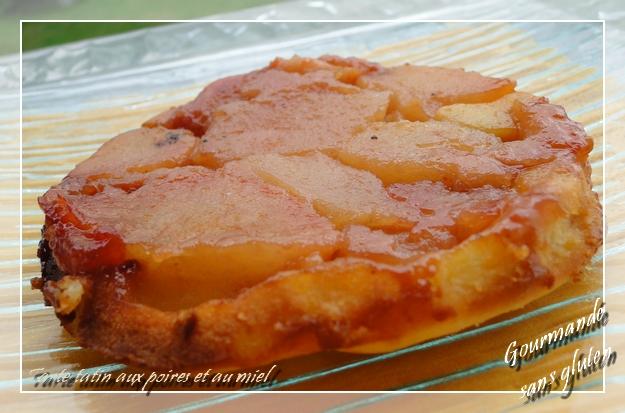 Tarte tatin aux poires et au miel sans gluten