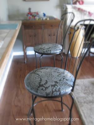 Mintagehome Craft 52 Week 4 Glittered Reupholstered