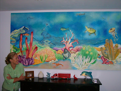 Designs by louise aquarium mural 2007 for Aquarium mural