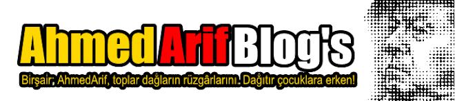 Ahmed Arif Blog's!