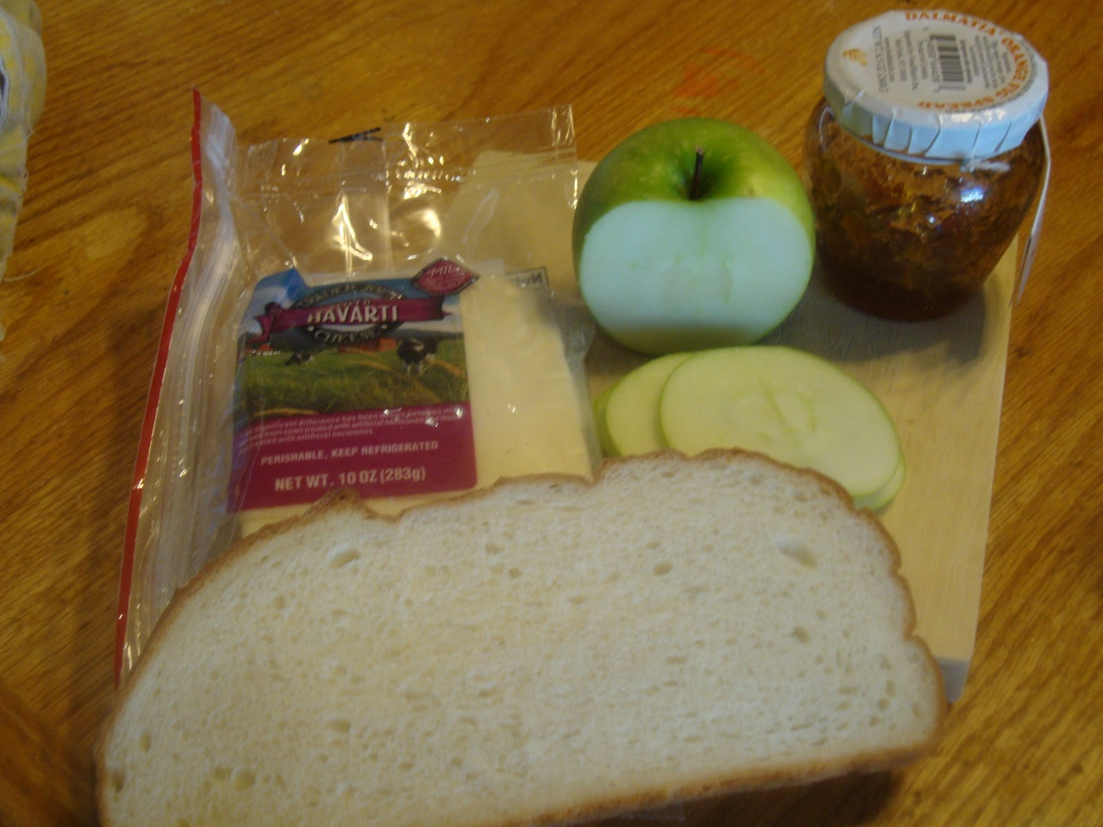 havarti  apple and fig spread