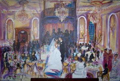 Wedding Receptions  Jersey on Karen Wall Garrison Paintings  New Jersey Wedding