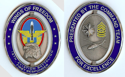 12th aviation battalion Latest Challenge Coin   WOW!