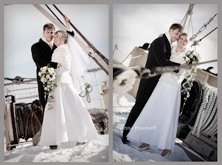 Pulmafoto, õnnelik pruutpaar. Tallinna Lennusadam.