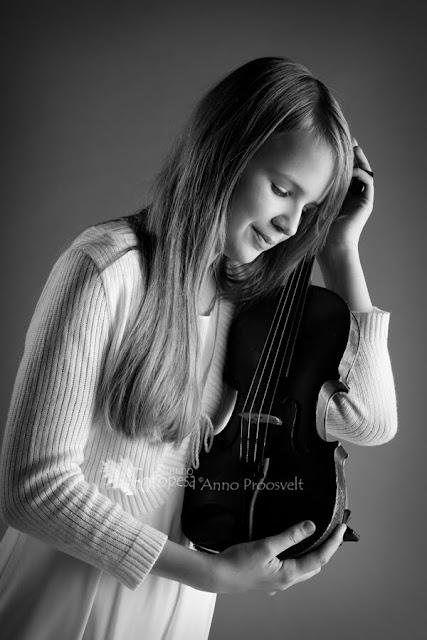 Türuk viiuliga- mustvalge foto