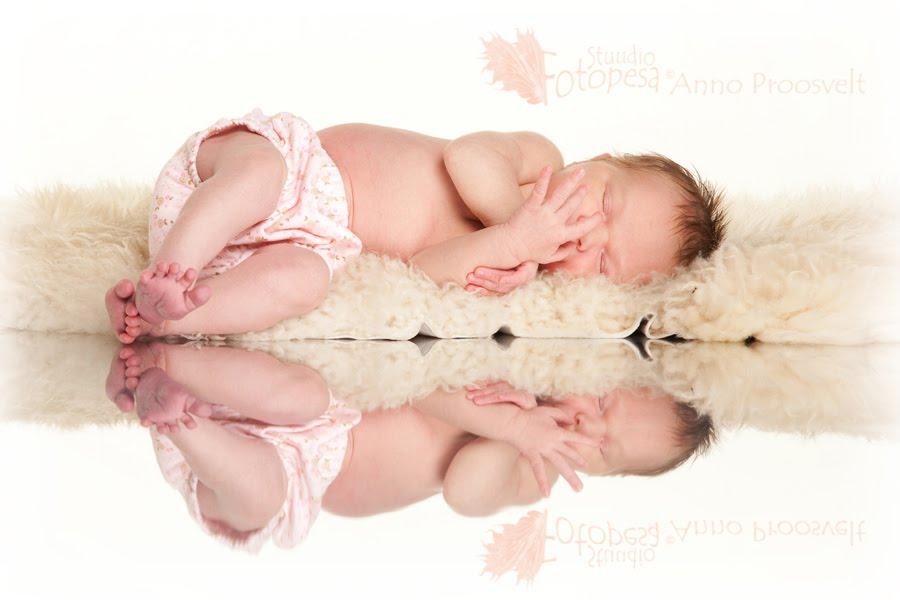 beebi peegelduval pinnal, Fotostuudio  Fotopesa Tallinnas