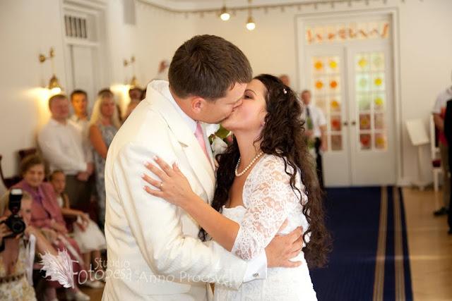 pulma tseremoonia, esimene suudlus