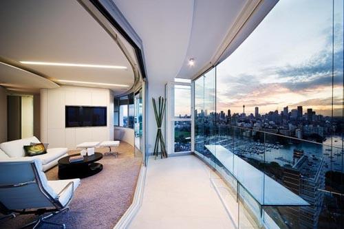 Апартаментът на Кийра  Modern-apartment-interior-design-wall-glass