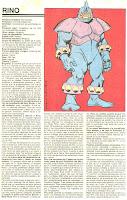 Rino (Ficha de Marvel)