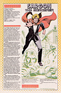 Sargon el Hechicero Ficha DC Comics