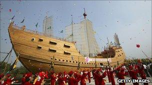 Zheng He Ship Replica Goddesschess: Z...