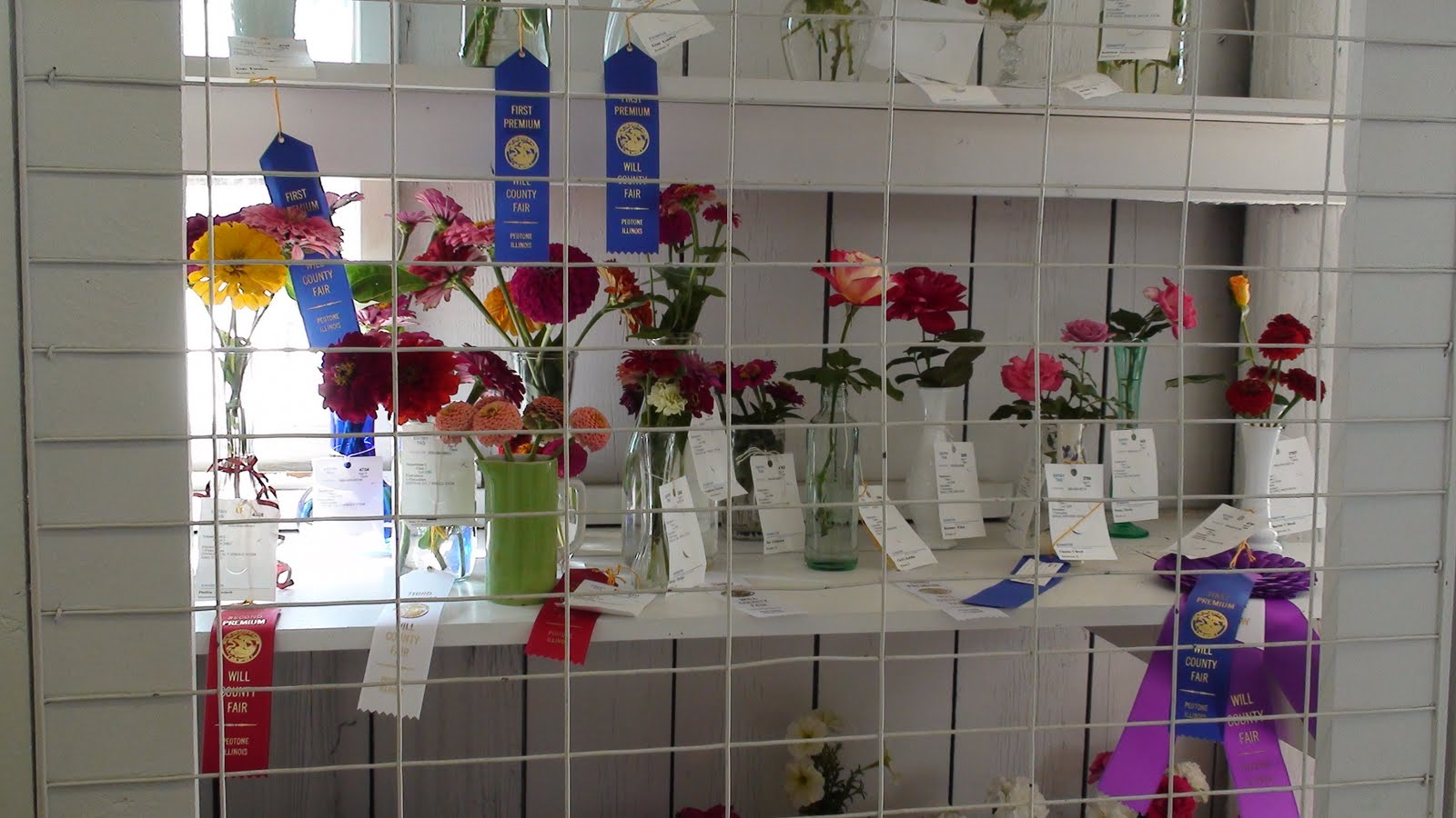 Illinois will county peotone - Floral Exhibits At The Will County Fair In Peotone Illinois