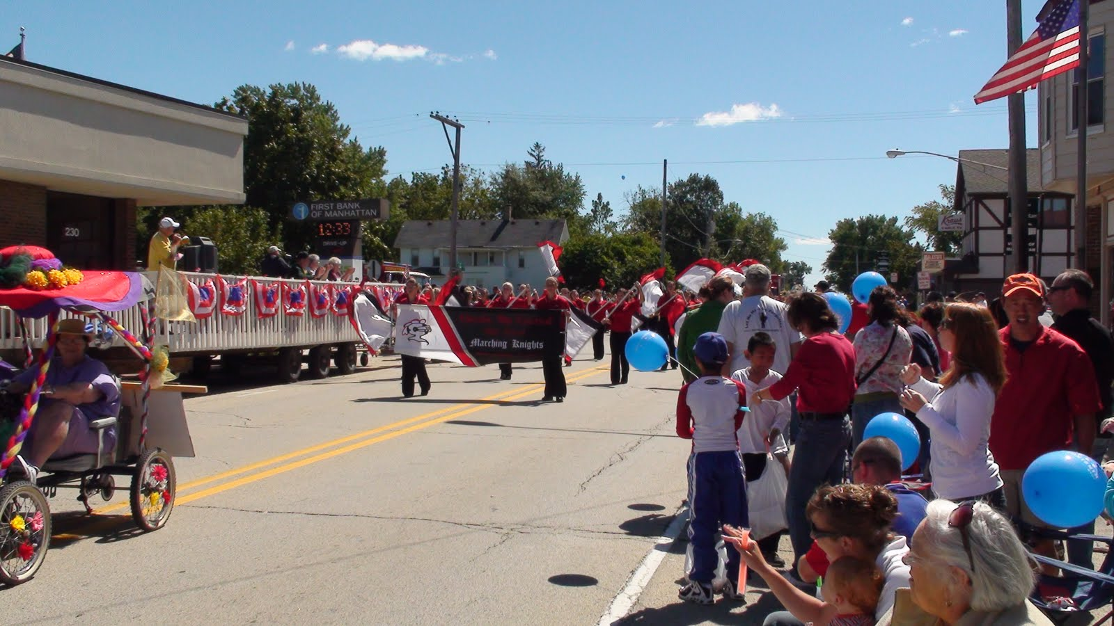 Illinois will county manhattan - Lincoln Way Central Marching Knights At The Manhattan Fun Days Parade