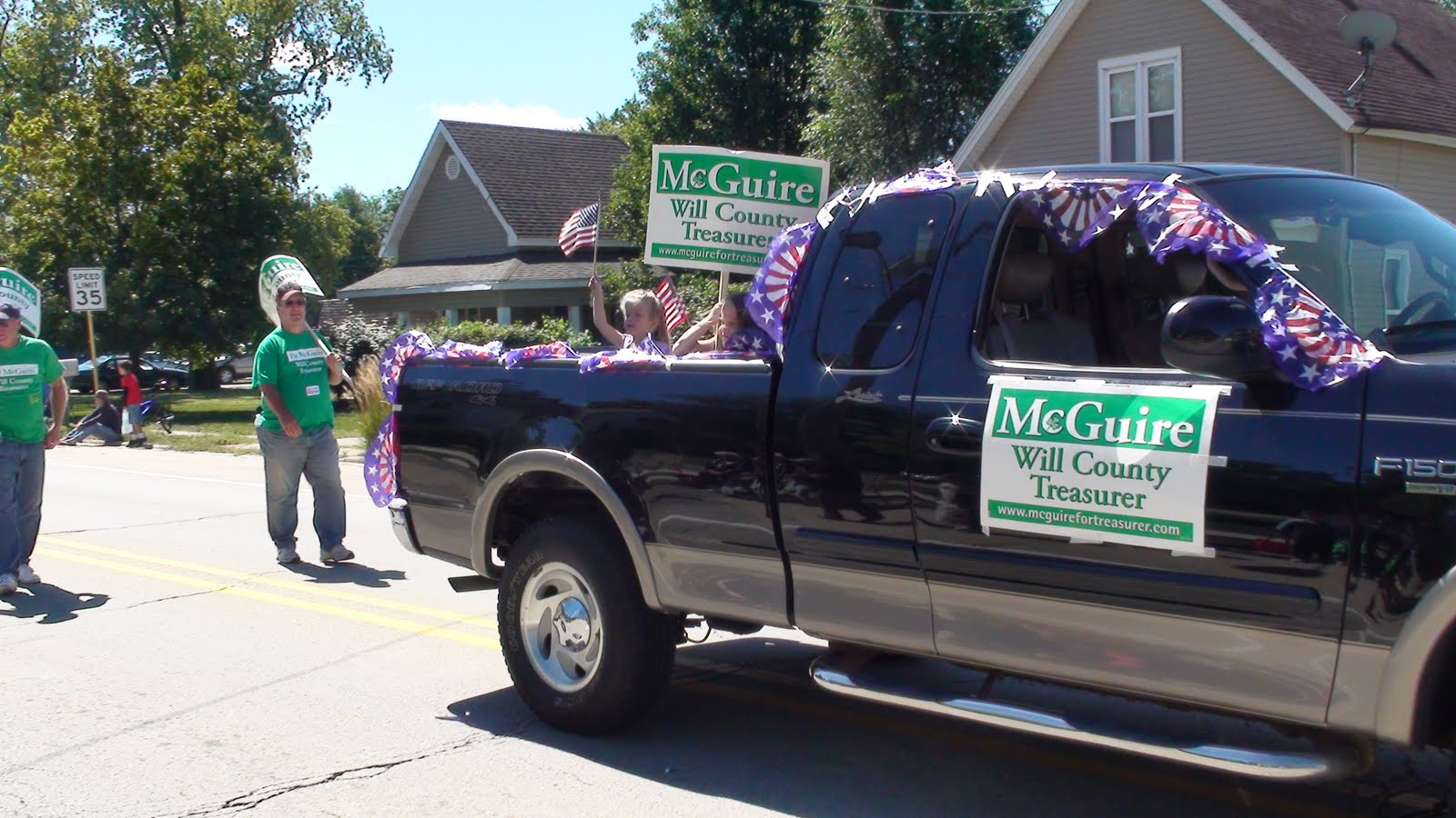 Illinois will county manhattan - Will County Treasurer Pat Mcguire S Entry In The Manhattan Illinois Fun Days Parade