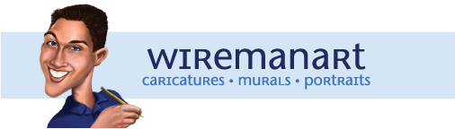 Wiremanart Portraits Caricatures and Murals