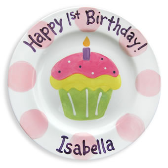 Celebrate in style with our personalized ceramic birthday plates! These custom plates are hand painted one of a kind and will create a keepsake that will be ...  sc 1 st  The Letter Tree & The Letter Tree: Personalized Ceramic Birthday Plates