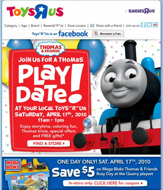 Toys R Us Dvd : Blessings on savings toys quot r us thomas play date
