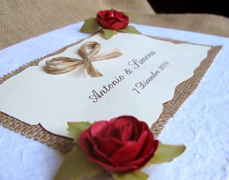 Matrimonio Tema Rose Rosse : Officine creative guestbook per matrimonio rose rosse
