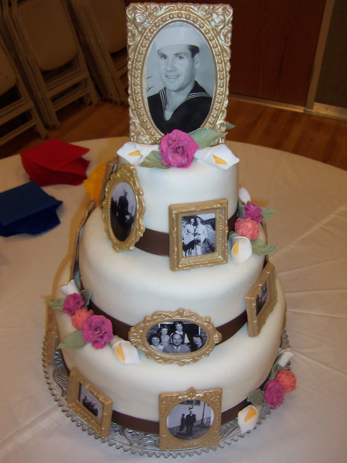 Cake Decorating Ideas For A 90 Year Old : Amber s Birthday Creations: Grandpa s 90th Birthday Cake/Party