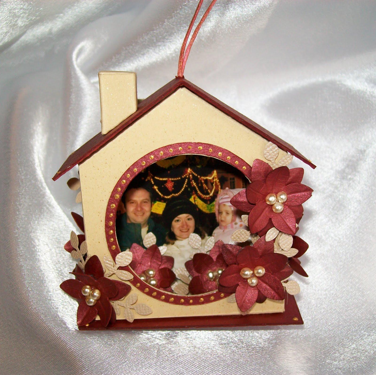 Елочная игрушка домики своими руками