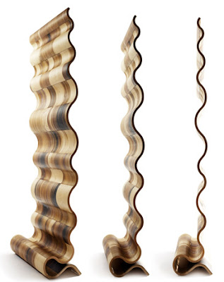 Wooden Wave Room Divider by Susan Wood