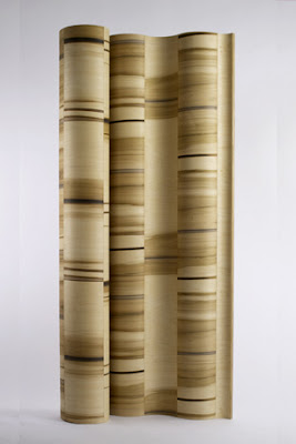 Water Wave, bent plywood furniture room divider