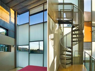 briard sander residence stairs