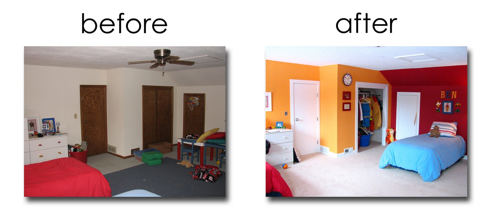 Messy Kids Room Before And After clean bedroom before and after