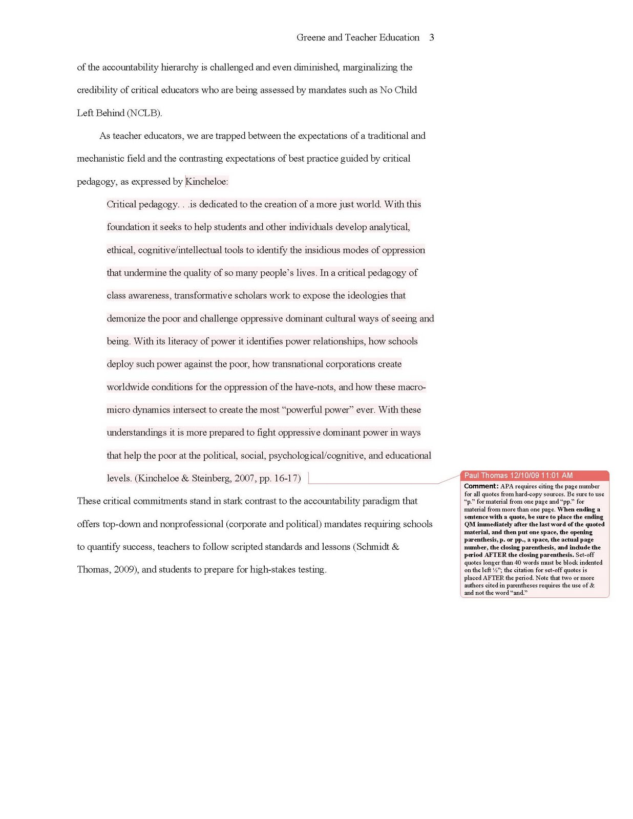 page layout of a research paper