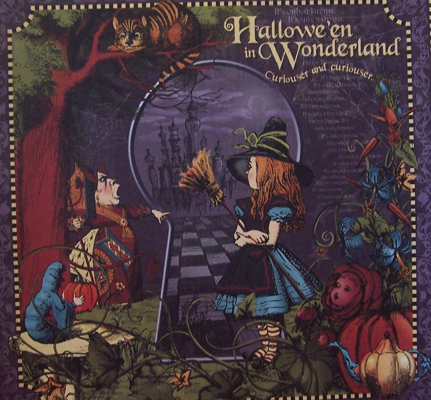 Que Bella Alice In Wonderland Halloween Paper