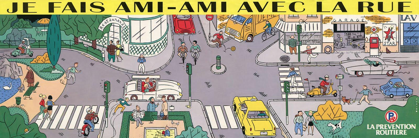 Populaire Je fais ami-ami avec la rue, La prévention routière, 1987  ZK08