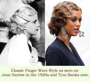 Vintage Finger Wave Hairstyles