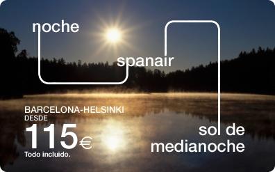 Todo low cost vuelos de barcelona a helsinki con spanair for Vuelos barcelona paris low cost