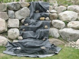 Backyard ponds for Waterfall pond liners