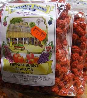 french burnt peanuts from Simonian farms