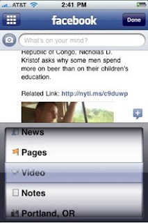 iphone facebook