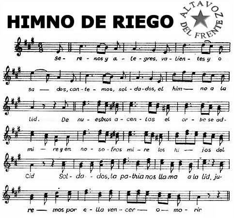 Himno Riego: La Partitura