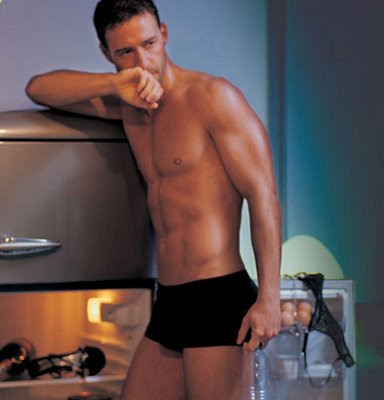 Alberto Guzman in black underwear
