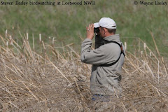 Steven birdwatching at Lostwood NWR
