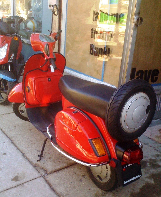 philadelphia used scooters 2002 bajaj chetak red 4. Black Bedroom Furniture Sets. Home Design Ideas