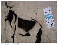 Pintura de jumento em parede de rua