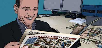 Armando Iannucci (The Thick of It) narrates the Comics Britannia series