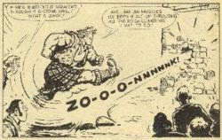 Hot Shot Hamish's first appearance, in the 25th August 1973 issue of Scorcher