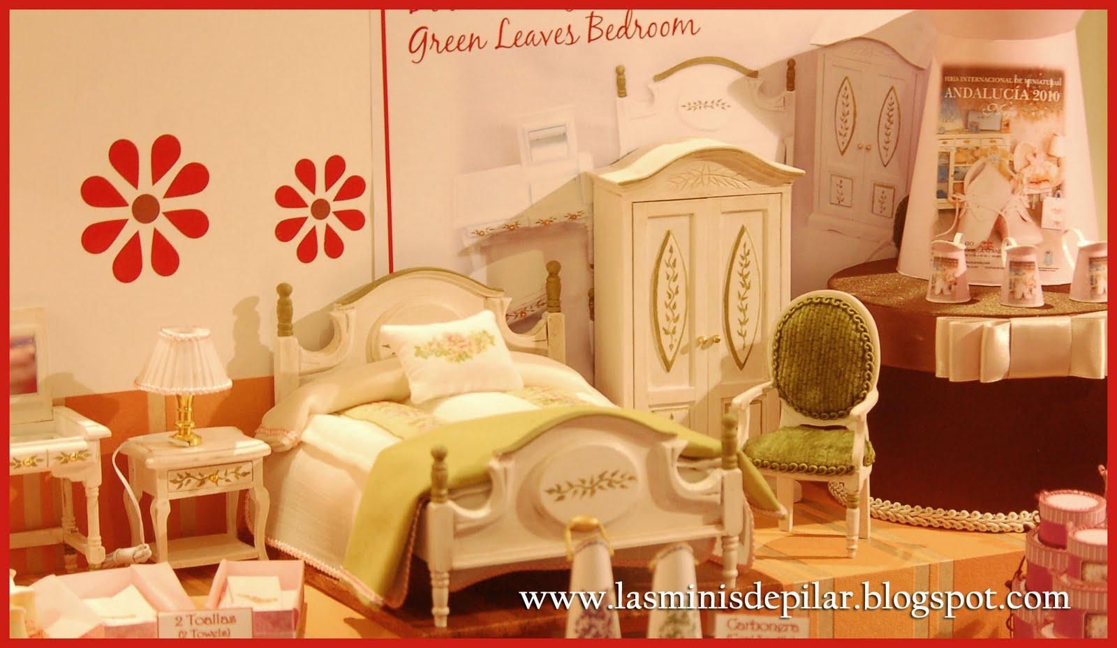 Pilar alen miniaturas colcha para dormitorio shabby for Cubrepies de cama