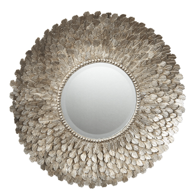RG The Shop Library Metal Feather Wall Mirror