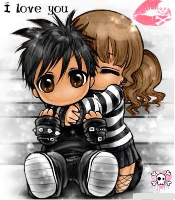 emo love kiss cartoon. emo love poems and quotes